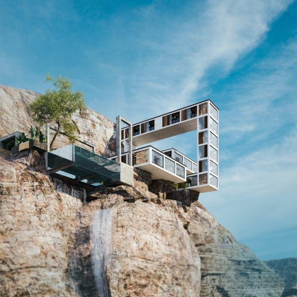 این خانه به وسیله یک آرشیتکت ایرانی طراحی شده است